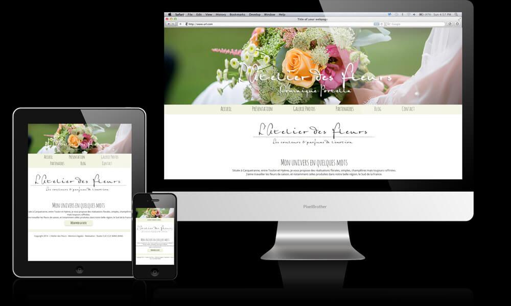 Site internet vitrine pour fleuriste carqueiranne for Site fleuriste